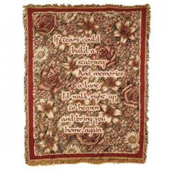 Stairway Memorial Tapestry Throw