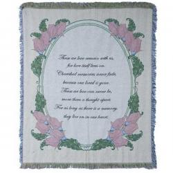 Pink Rose Memories Tapestry Throw