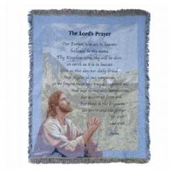 The Lord's Prayer Tapestry Throw Blanket