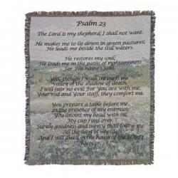 Psalm 23 Tapestry Throw Blanket