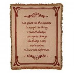 Serenity Prayer  Tapestry Throw Blanket