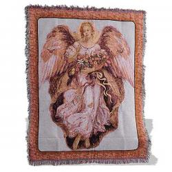 Golden Angel Tapestry Throw