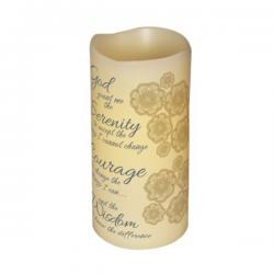 Abiding Light Scented Flameless Candle Serenity Prayer