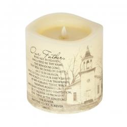 Everlasting Glow Candle Lord's Prayer