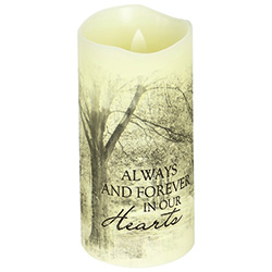 Forever in our hearts candle