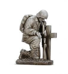 Soldier and Cross figurine